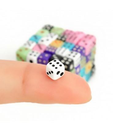 Mini dobbelstenen (100 stuks)