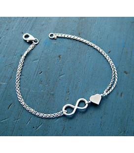 Armband infinity en hartje