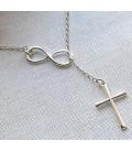 Ketting infinity met kruisje