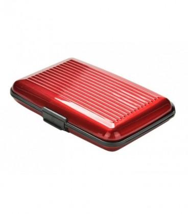 Aluminium pasjeshouder rood