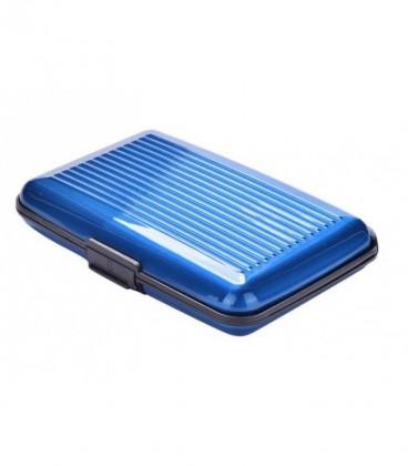 Aluminium pasjeshouder blauw