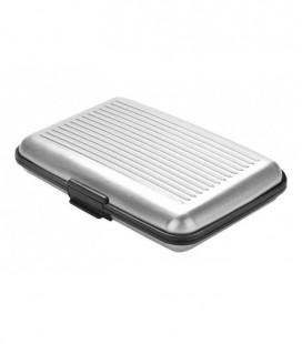 Aluminium pasjeshouder - zilver