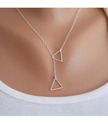 Dames hangertjes ketting driehoek