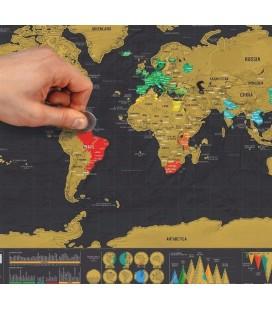 Wereld kraskaart deluxe