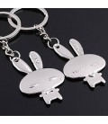 Schattige konijn sleutelhanger set